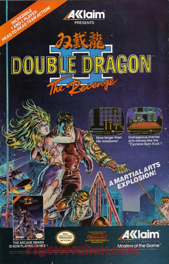Double Dragon II: The Revenge In-Game Screen