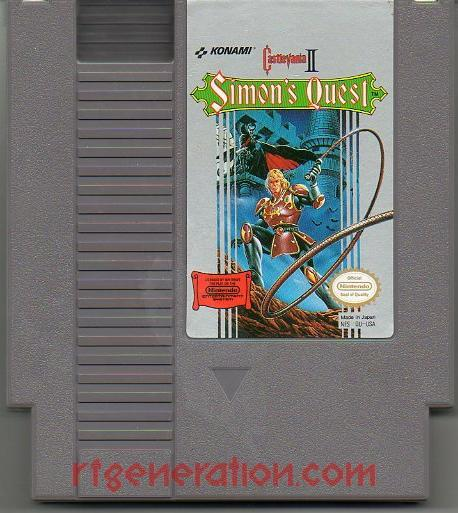 Castlevania II: Simon's Quest <sup>[Oval Seal]</sup> Game Scan