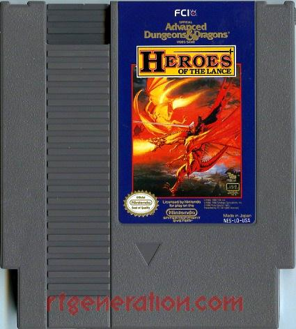 Advanced Dungeons & Dragons: Heroes of the Lance Game Scan