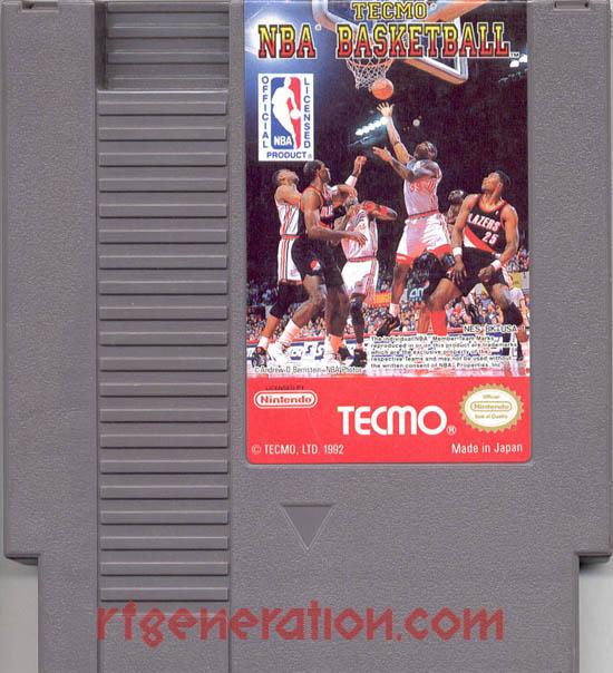 Tecmo NBA Basketball <sup>[White NBA Logo Rerelease]</sup> Game Scan