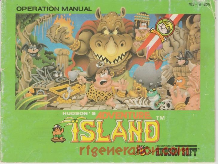 Adventure Island, Hudson's <sup>[Oval Seal]</sup> Manual Scan