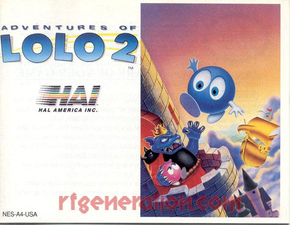 Adventures of Lolo 2 Manual Scan