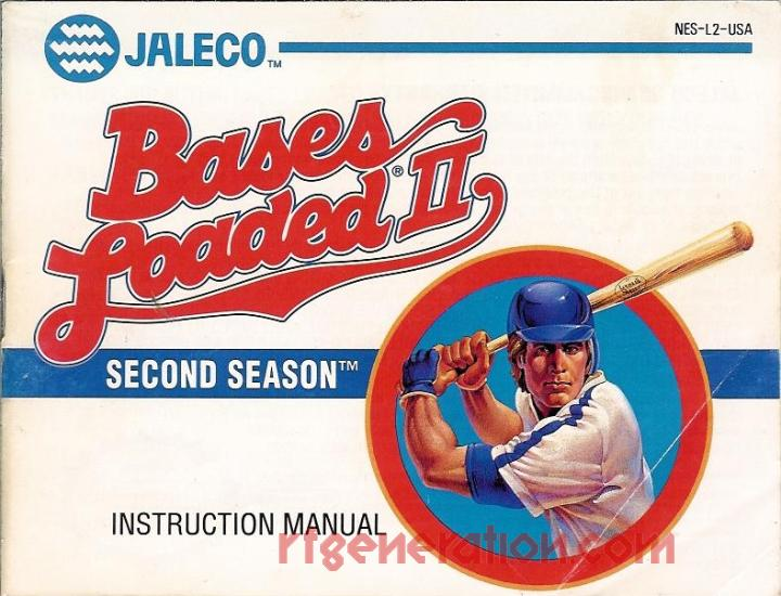 Bases Loaded II: Second Season Manual Scan
