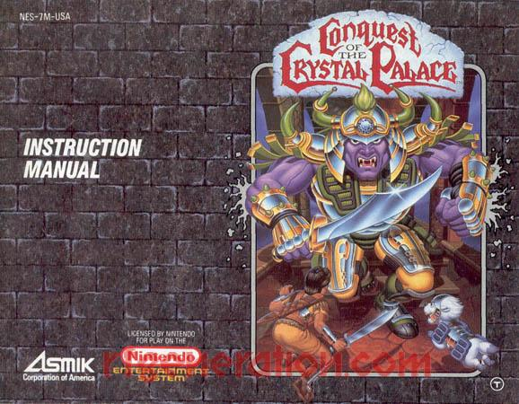 Conquest of the Crystal Palace Manual Scan