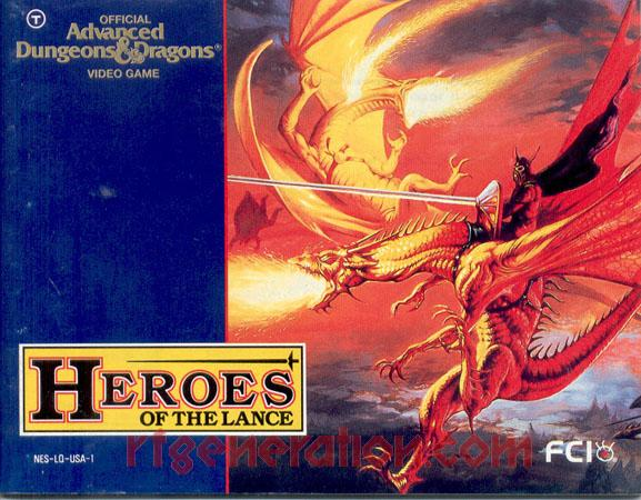 Advanced Dungeons & Dragons: Heroes of the Lance Manual Scan