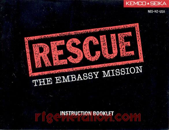 Rescue: The Embassy Mission Manual Scan
