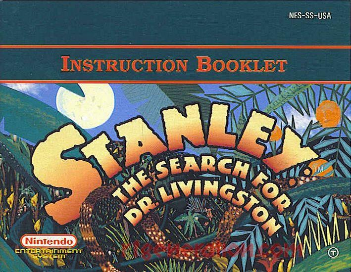 Stanley: The Search for Dr. Livingston Manual Scan