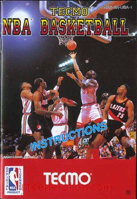 Tecmo NBA Basketball <sup>[White NBA Logo Rerelease]</sup> Manual Scan