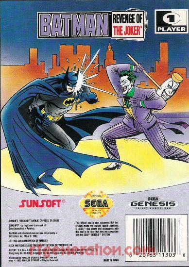 Batman: Revenge of the Joker Box Back