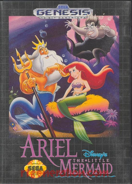 Ariel: The Little Mermaid, Disney's Box Front