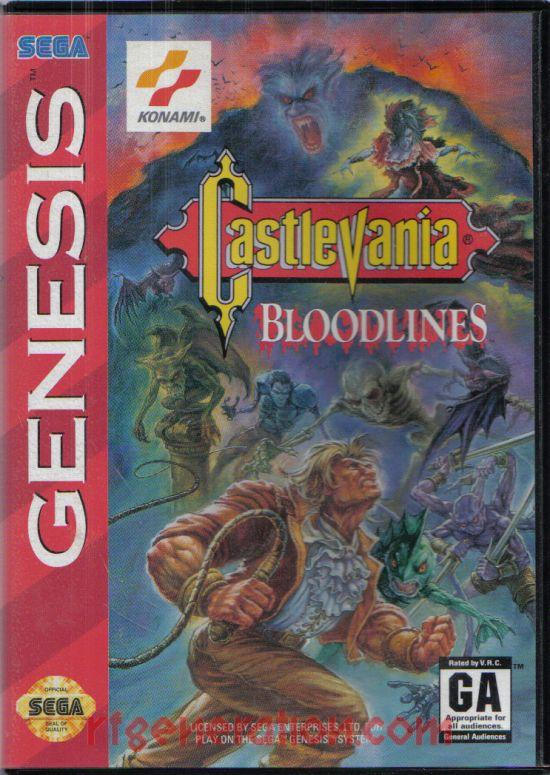 Castlevania: Bloodlines Box Front