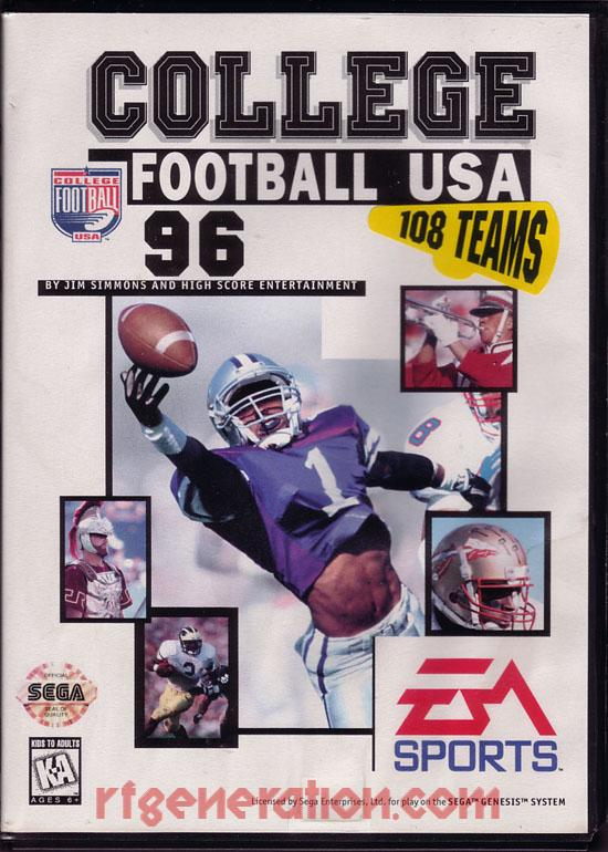 College Football USA '96 Box Front