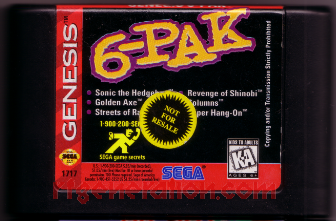 6-Pak <sup>[Not For Resale]</sup> Game Scan
