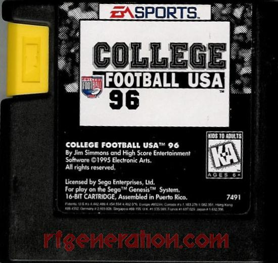 College Football USA '96 Game Scan