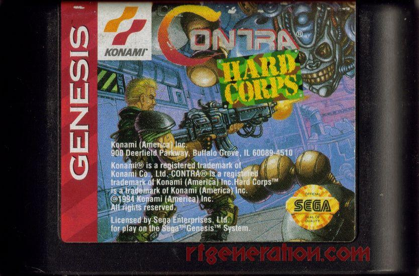 Contra: Hard Corps Game Scan