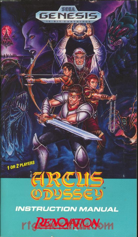 Arcus Odyssey Manual Scan