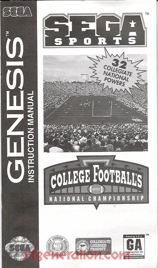 College Football's National Championship Manual Scan