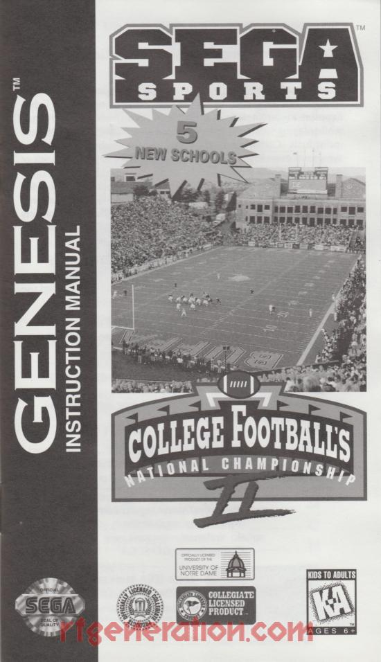 College Football's National Championship II Manual Scan