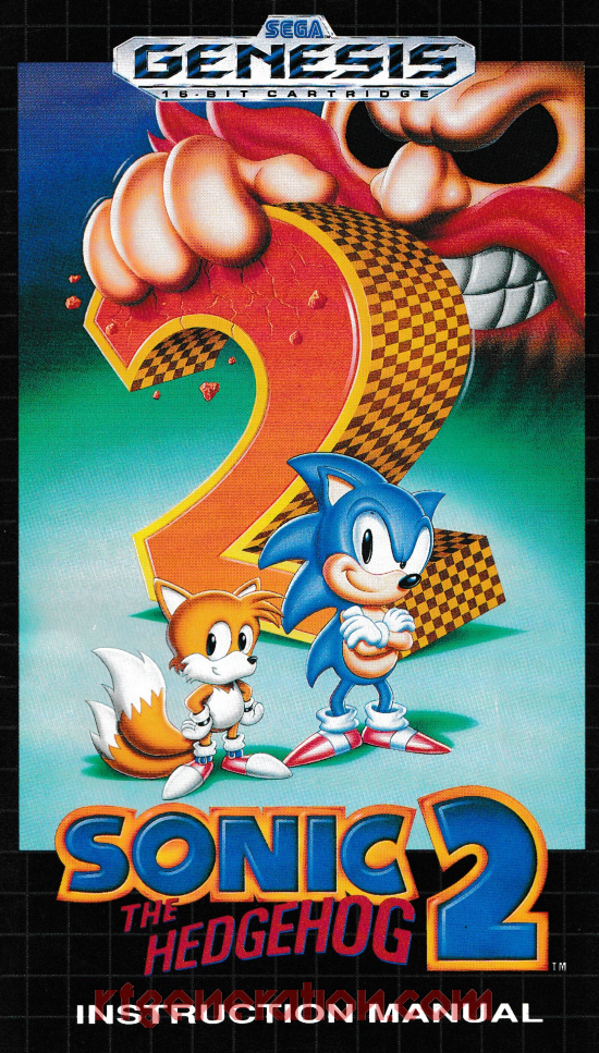Sonic the Hedgehog 2 <sup>[Not For Resale, Sticker]</sup> Manual Scan