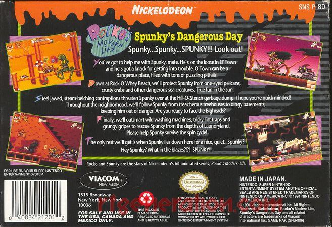 Rocko's Modern Life: Spunky's Dangerous Day Box Back