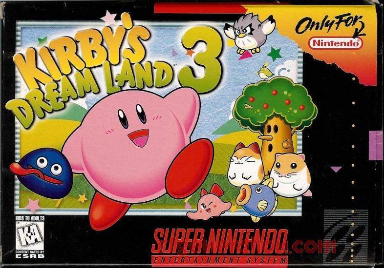 Kirby's Dream Land 3 Box Front