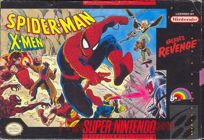 Spider-Man and the X-Men: Arcade's Revenge Box Front