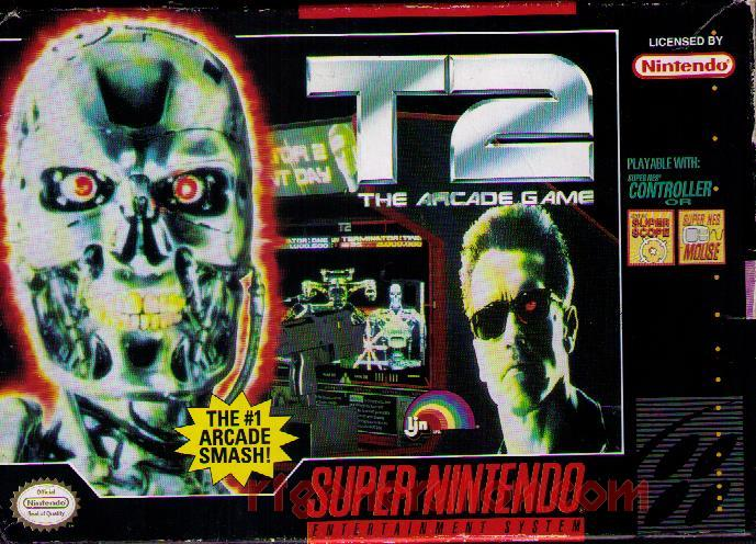 T2: The Arcade Game <sup>[Majesco Rerelease]</sup> Box Front