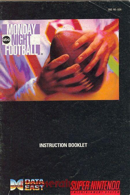 ABC Monday Night Football Manual Scan