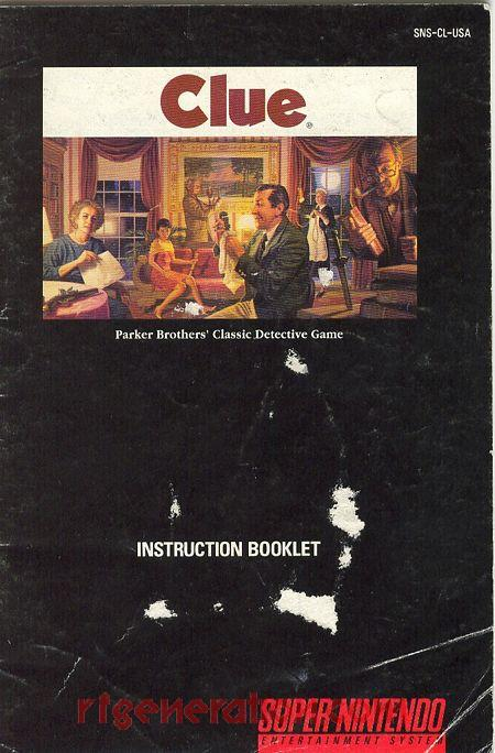 Clue Manual Scan