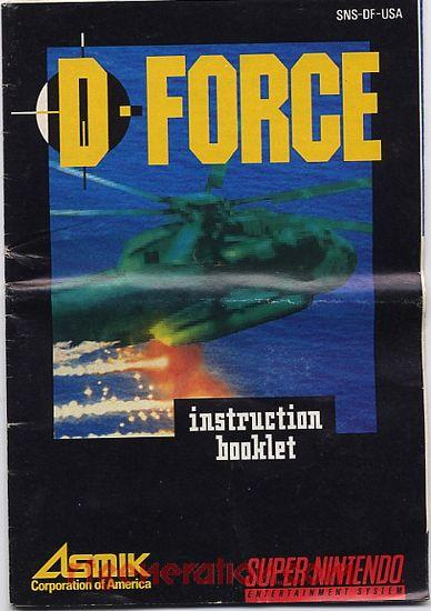 D-Force Manual Scan
