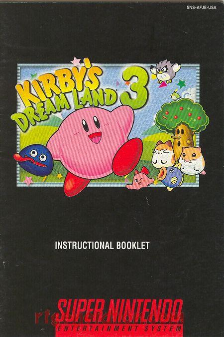 Kirby's Dream Land 3 Manual Scan