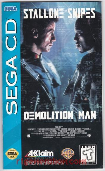 Demolition Man Manual Scan