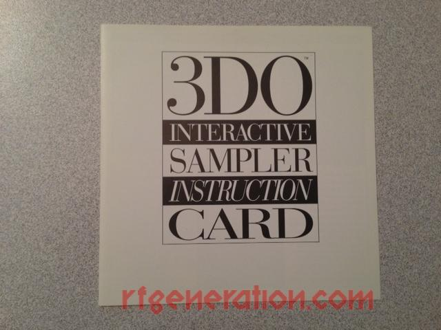 3DO Interactive Sampler CD #1, The <sup></sup> Manual Scan