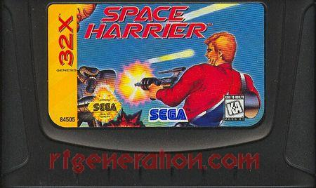 Space Harrier Game Scan