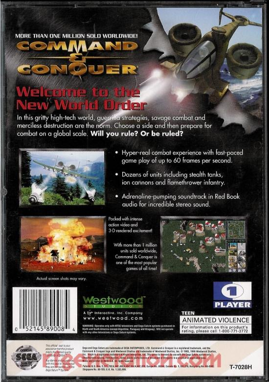 Command & Conquer Box Back