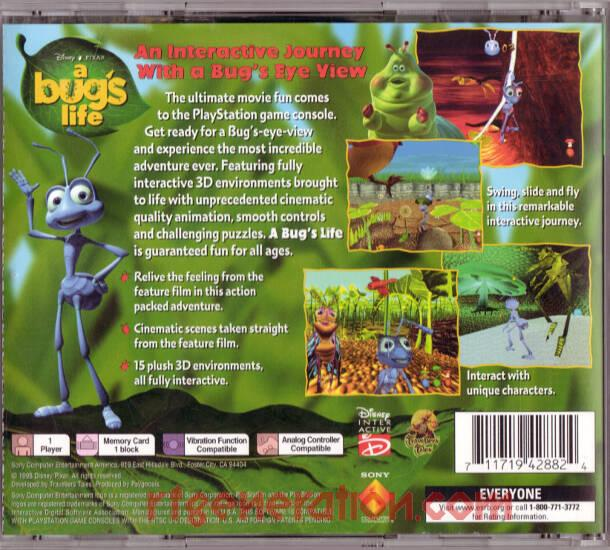 Bug's Life, Disney/Pixar's A <sup>[Greatest Hits]</sup> Box Back