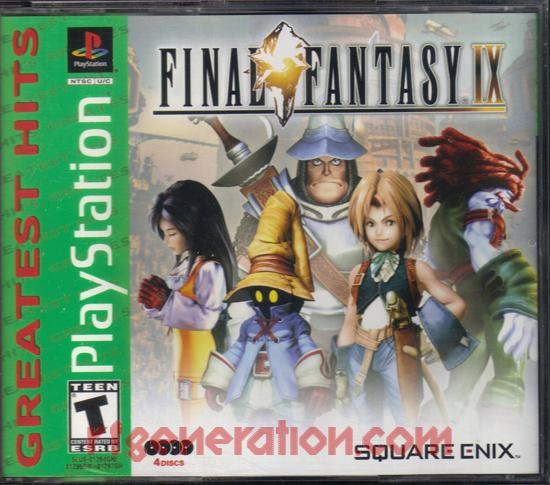 Final Fantasy IX <sup>[Greatest Hits - Square Enix, Second Printing]</sup> Box Front
