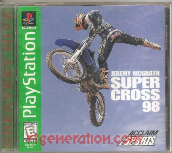 Jeremy McGrath Supercross '98 <sup>[Greatest Hits]</sup> Box Front