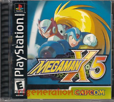 Mega Man X5 Box Front