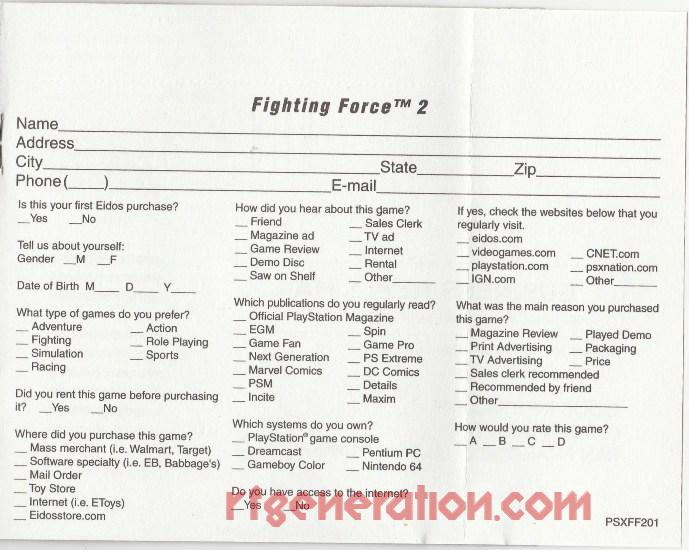Fighting Force 2 In-Game Screen