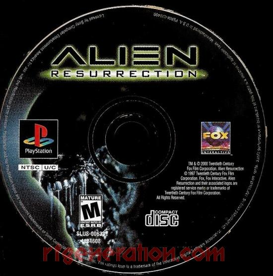 Alien: Resurrection Game Scan