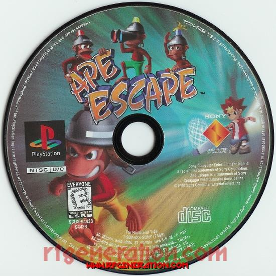 Ape Escape Game Scan