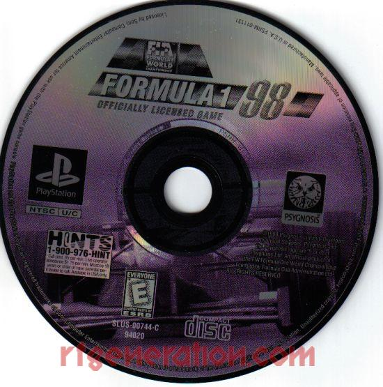 Formula 1 '98 <sup>[Alternate UPC]</sup> Game Scan