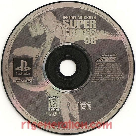 Jeremy McGrath Supercross '98 <sup>[Greatest Hits]</sup> Game Scan
