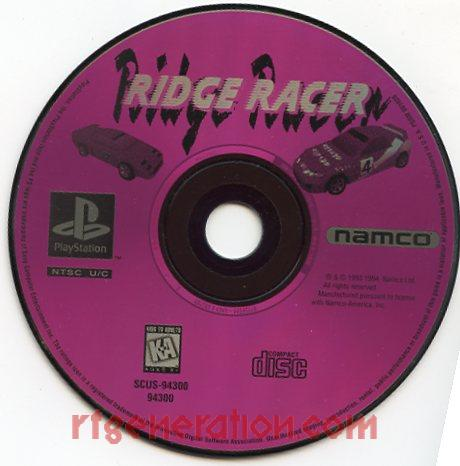 Ridge Racer <sup>[Long Box Clear - Not For Sale]</sup> Game Scan