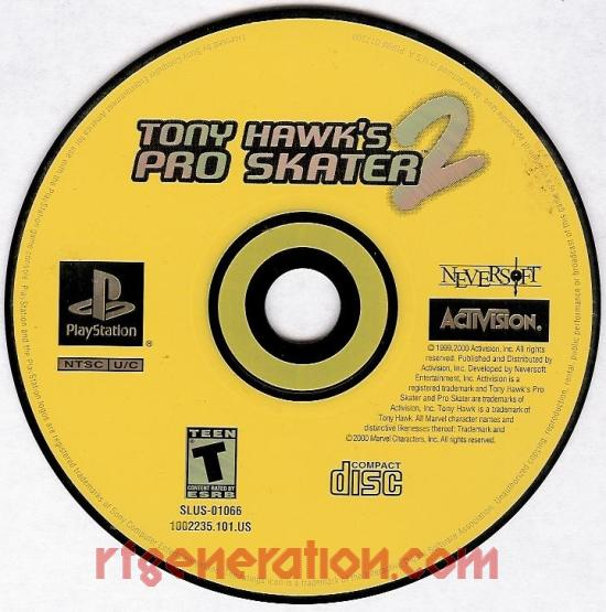Tony Hawk's Pro Skater 2 Game Scan