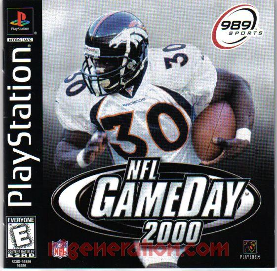 NFL GameDay 2000 Manual Scan