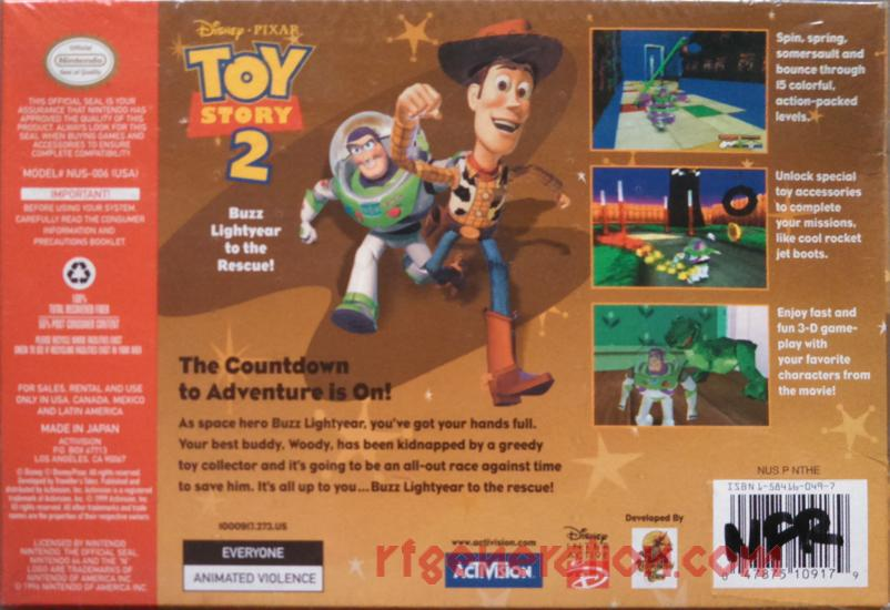 Toy Story 2: Buzz Lightyear to the Rescue! Box Back