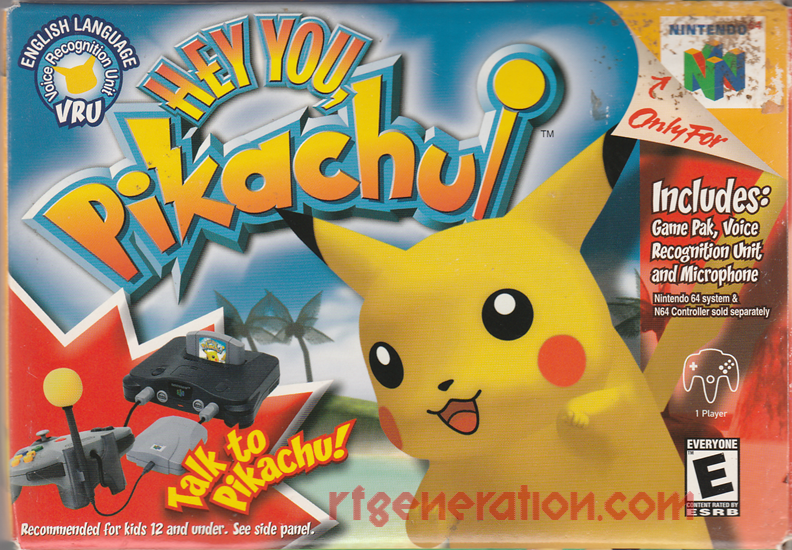 Hey You, Pikachu! Box Front