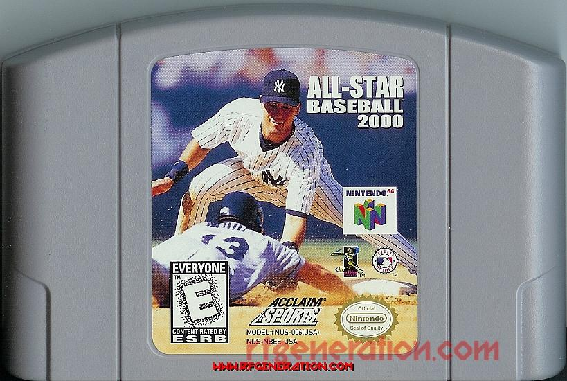 All-Star Baseball 2000 Game Scan